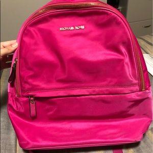 Michael Kors Pink Nylon Backpack